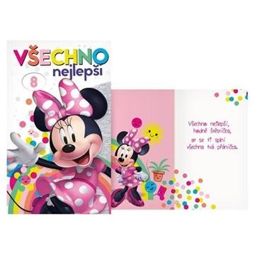 Obrázek Narozeninové přání Minnie s volbou věku