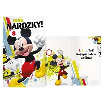 Obrázek Narozeninové přání Mickey s volbou věku