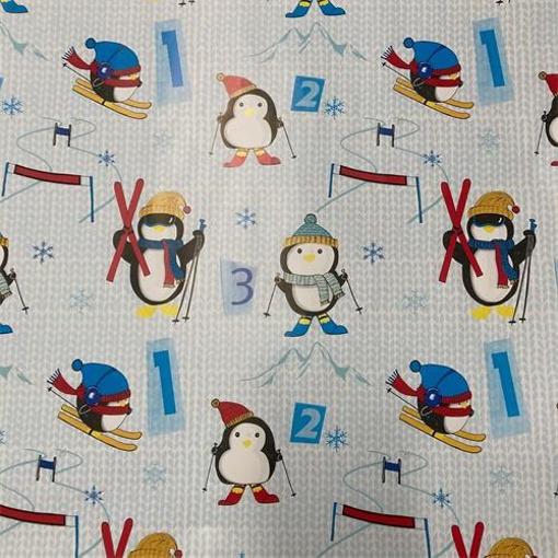 Obrázek z Balící papír Tučňáci 70 x 100 cm - 2 ks