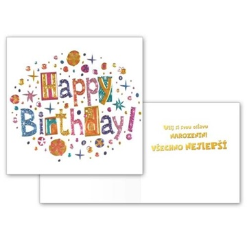 Obrázek Narozeninové přání - Happy Birthday