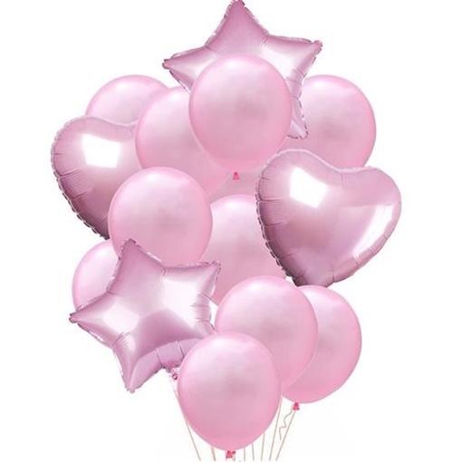 Obrázek z Balonkový buket Růžový - 14 ks