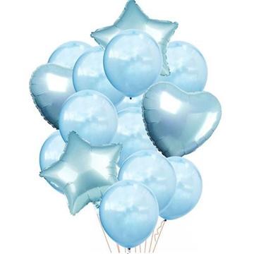 Obrázek Balonkový buket Modrý - 14 ks