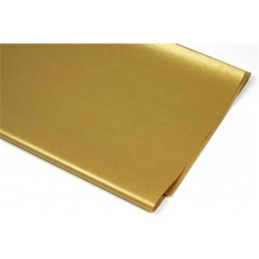 Obrázek z Balící papír Zlatý 70 x 100 cm - 2 ks