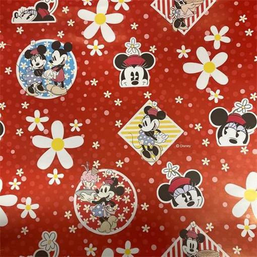 Obrázek z Balící papír Mickey a Minnie - kytičky 70 x 100 cm - 2 ks
