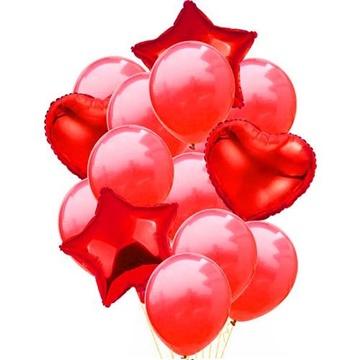 Obrázek Balonkový buket Červený - 14 ks