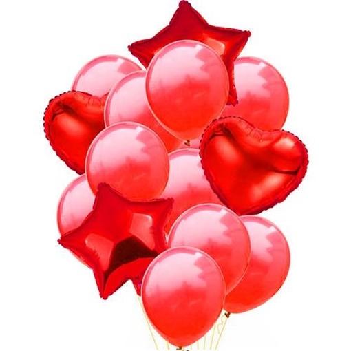 Obrázek z Balonkový buket Červený - 14 ks