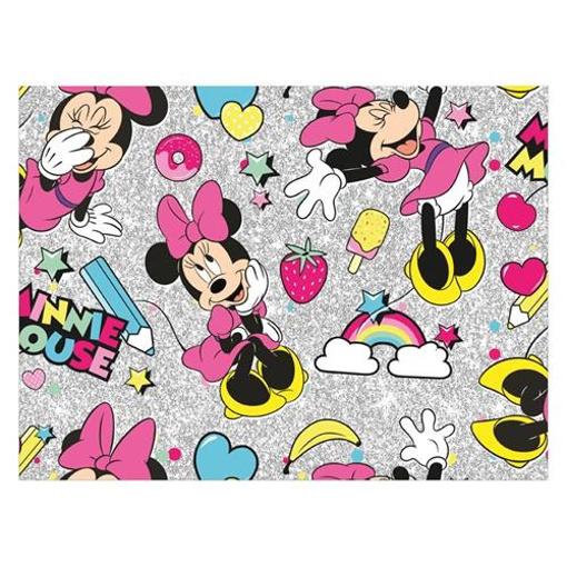 Obrázek z Balící papír Minnie Mouse - duha - šedý 70 x 200 cm