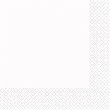 Obrázek Papírové ubrousky bílé malé 50 ks