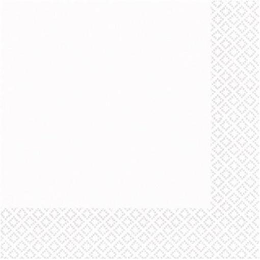 Obrázek z Papírové ubrousky bílé malé 50 ks