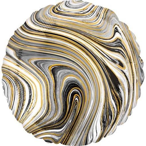Obrázek z Foliový balonek mramorový 45 cm černý