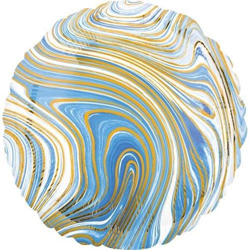 Obrázek z Foliový balonek mramorový 45 cm modrý