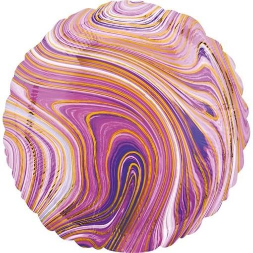 Obrázek z Foliový balonek mramorový 45 cm fialový
