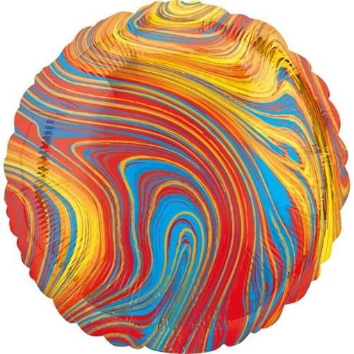 Obrázek z Foliový balonek mramorový 45 cm modro-červená