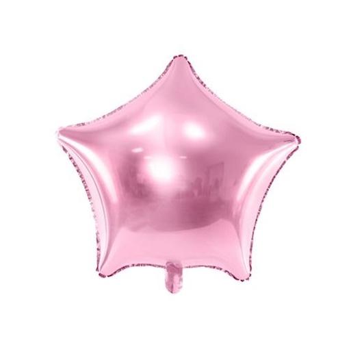 Obrázek z Foliový balonek hvězda světle růžová 48 cm - balené