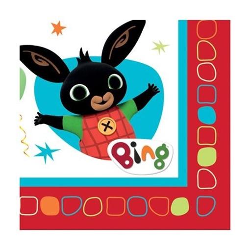 Obrázek z Papírové ubrousky kralíček Bing 16 ks