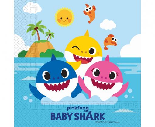 Obrázek z Papírové ubrousky Baby Shark 20 ks