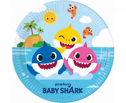 Obrázek z Papírové talíře Baby Shark 23 cm