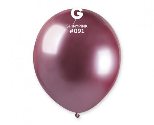 Obrázek z Balonky 13 cm - chromové růžové - 100 ks