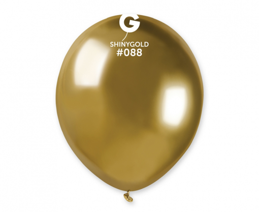 Obrázek z Balonky 13 cm - chromové zlaté - 100 ks