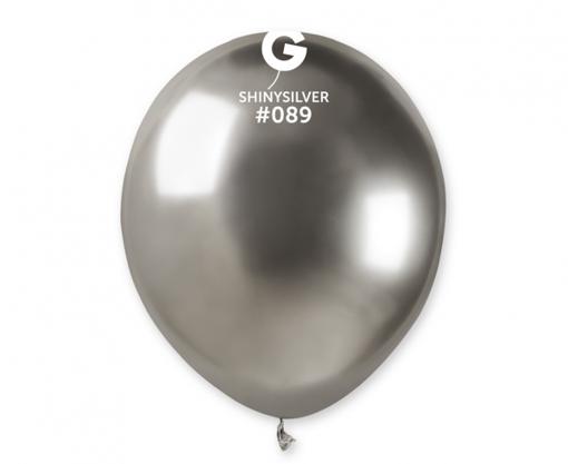 Obrázek z Balonky 13 cm - chromové stříbrné - 100 ks