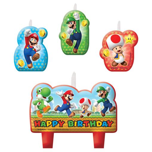 Obrázek z Dortové svíčky Super Mario 4 ks