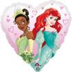 Obrázek z Foliový balonek srdce Disney princess 43 cm