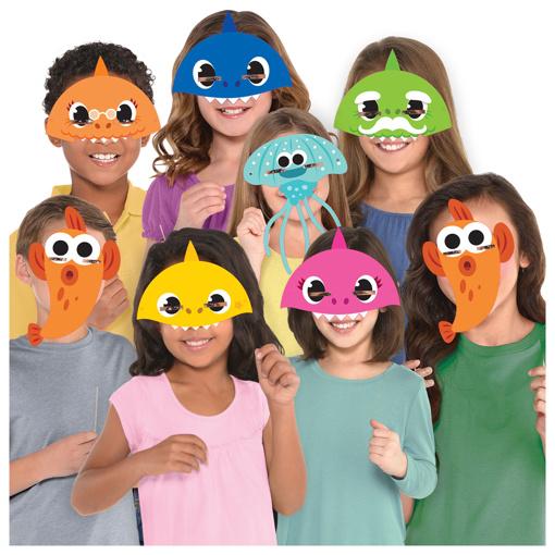 Obrázek z Party masky Baby Shark 8 ks