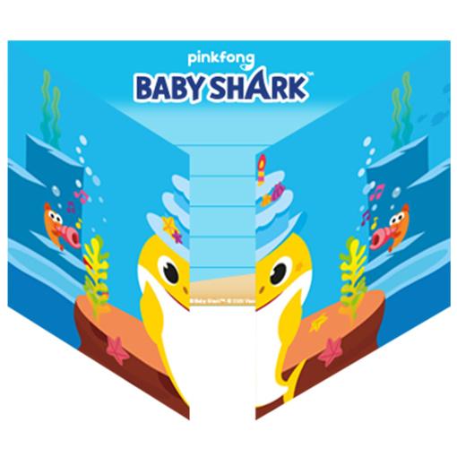Obrázok z Party pozvánky Baby Shark 8 ks