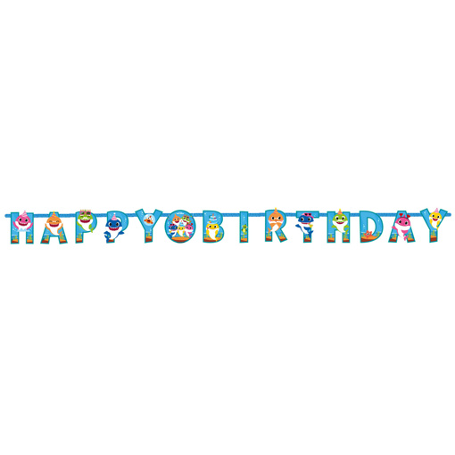 Obrázek z Party nápis Happy Birthday - Baby Shark