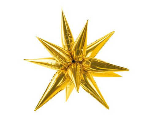 Obrázok z Dekoračná Hviezda 3D zlatá 95 cm