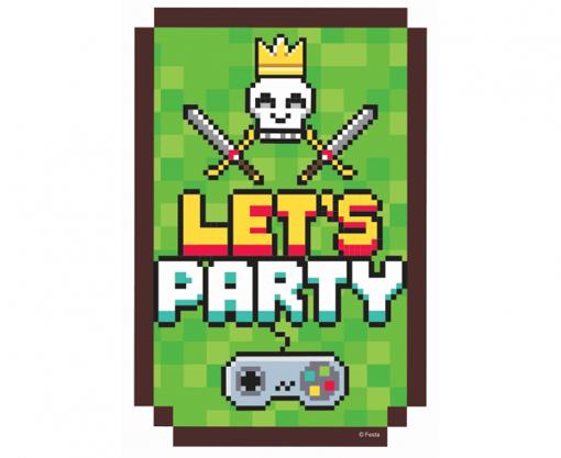Obrázek z Party pozvánky - Game on - 6 ks