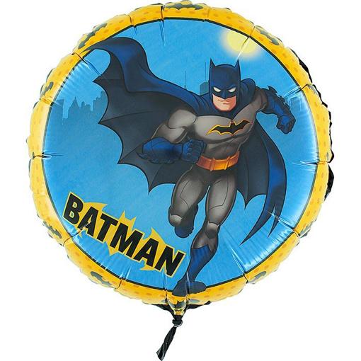 Obrázek z Foliový balonek Batman kulatý  45 cm - Nebalený