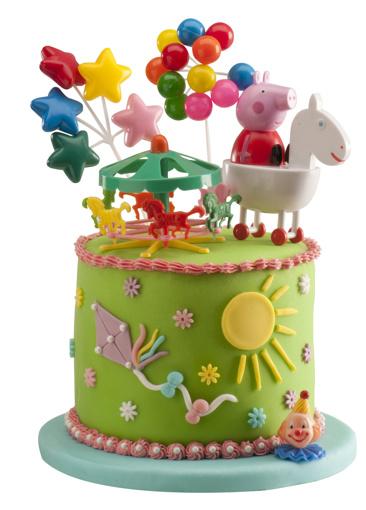 Obrázek z Dekorace na dort - Prasátko Peppa a kolotoč 11 cm
