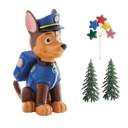 Obrázek z Dekorace na dort - Tlapková Patrola Chase a stromky 6 cm