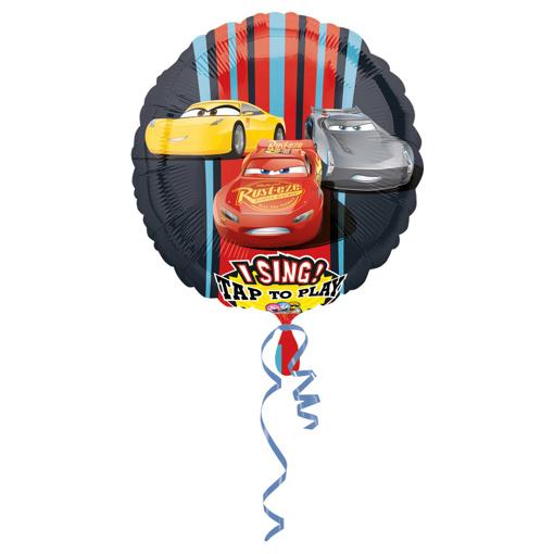 Obrázek z Foliový zpívající balonek Cars 71 cm