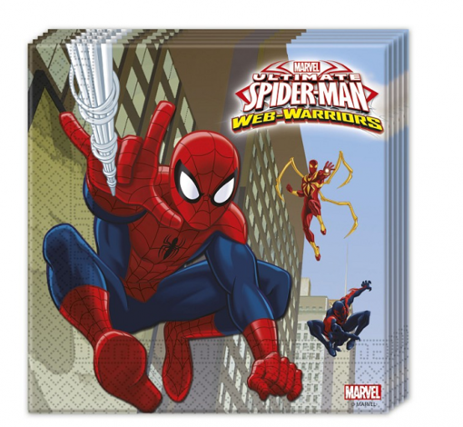 Obrázok z Papírové party ubrousky Spiderman Ultimate Warrior 20 ks