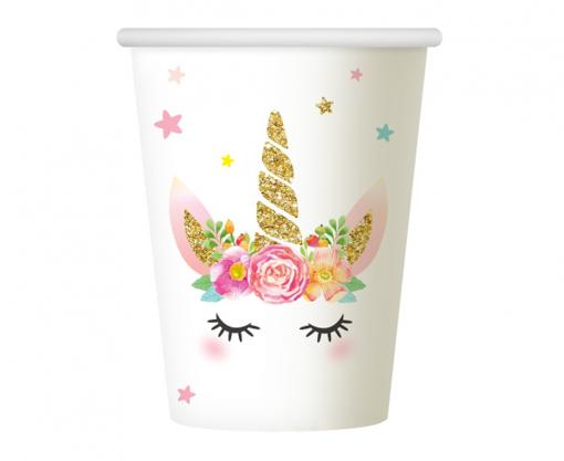 Obrázek z Party kelímky Jednorožec Floral 6 ks