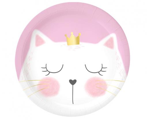Obrázek z Papírové talíře Kočičí princezna 23 cm - 6 ks