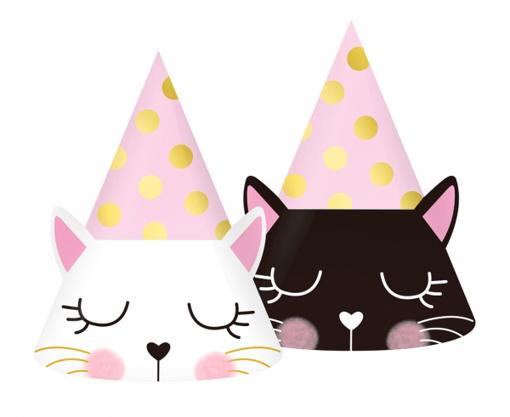 Obrázok z Papírové čepičky Kočičky 6 ks
