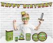 Obrázok z Papírová girlanda Happy Birthday - Minecraft Game On, 160 cm