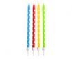 Obrázek z Dortové svíčky barevné s puntíky, 24 ks s držátky