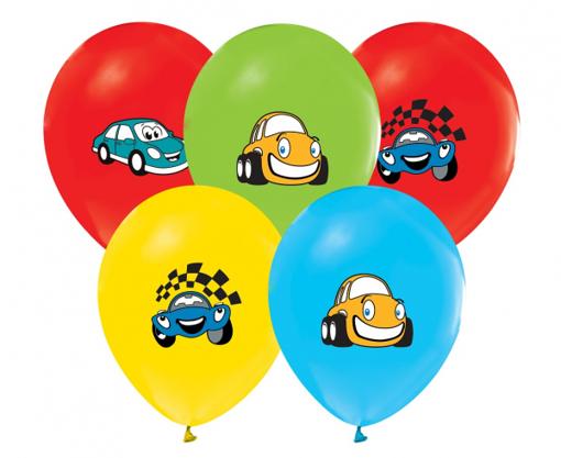 Obrázok z Latexové balóniky farebné - autíčka 30 cm - 5 ks