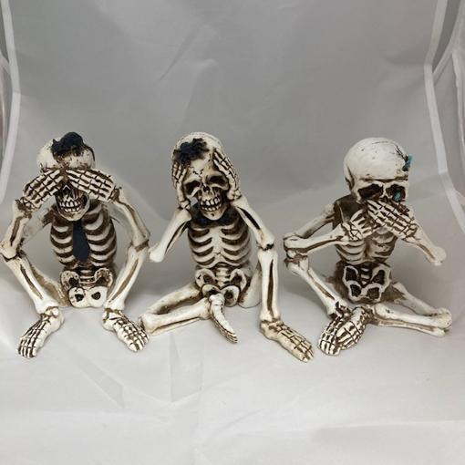 Obrázek z Halloweenská dekorace sošky kostlivců - 3 ks